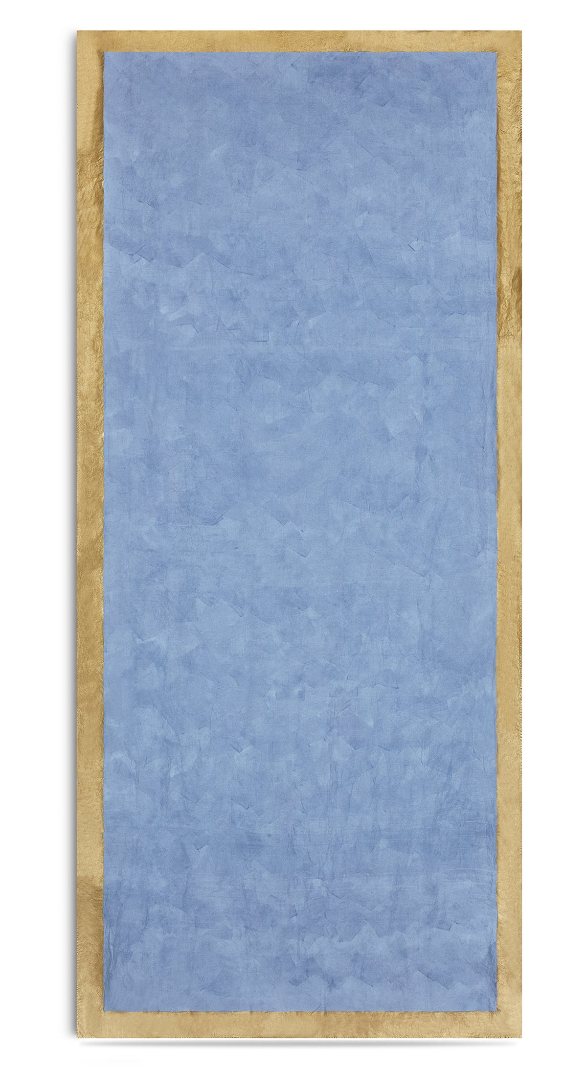 Gold Edge Linen Tablecloth in Pale Blue