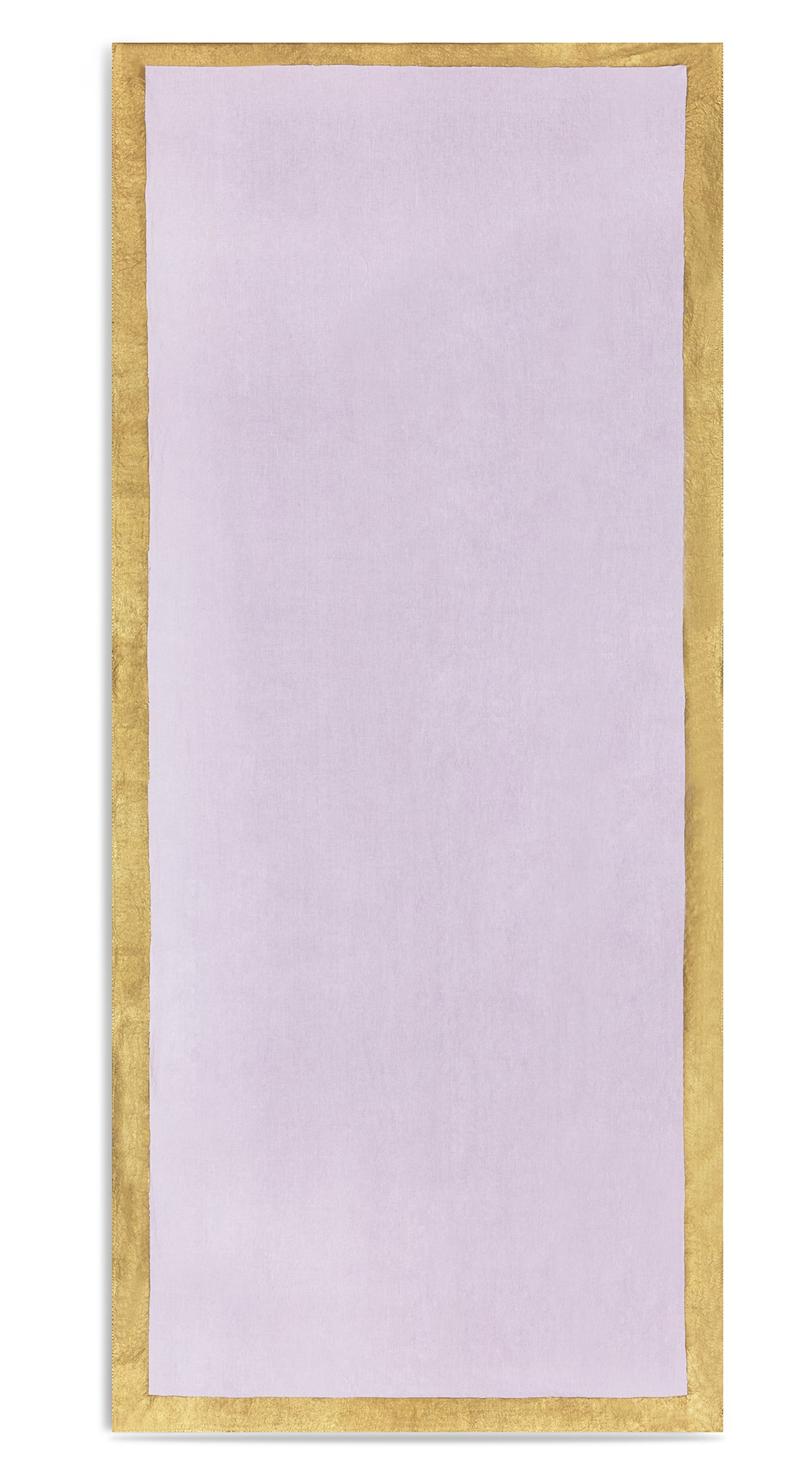 Gold Edge Linen Tablecloth in Pale Pink