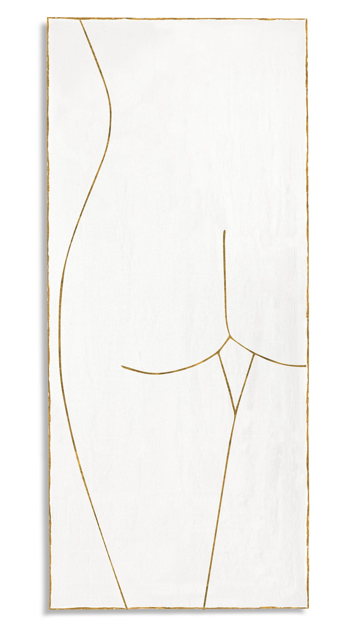 Nude Linen Tablecloth 'Female' in Gold