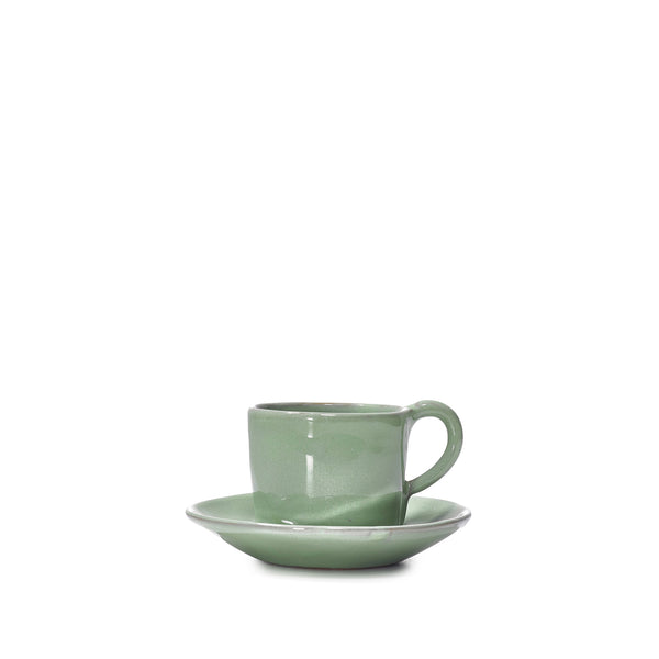 Espresso Cup and Saucer in Jade Green