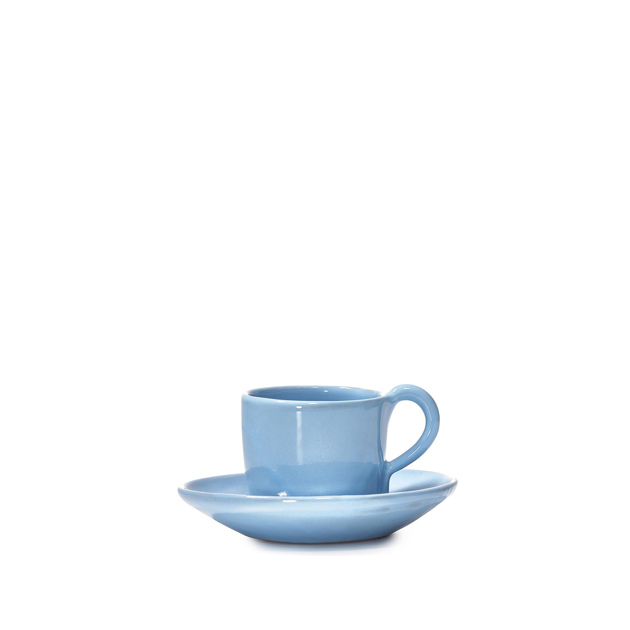 Espresso Cup and Saucer in Sky Blue