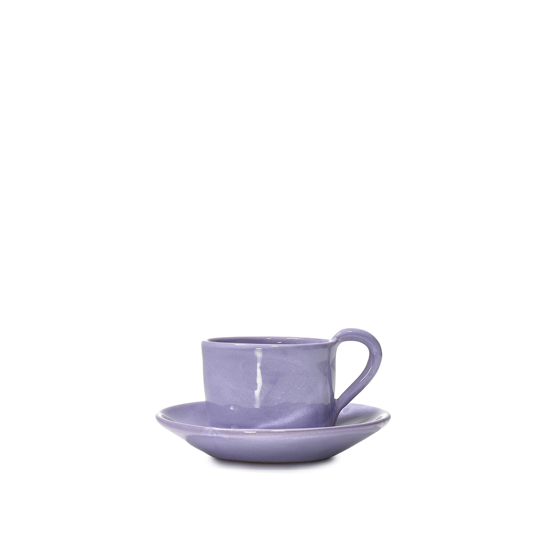 Espresso Cup and Saucer in Lilac