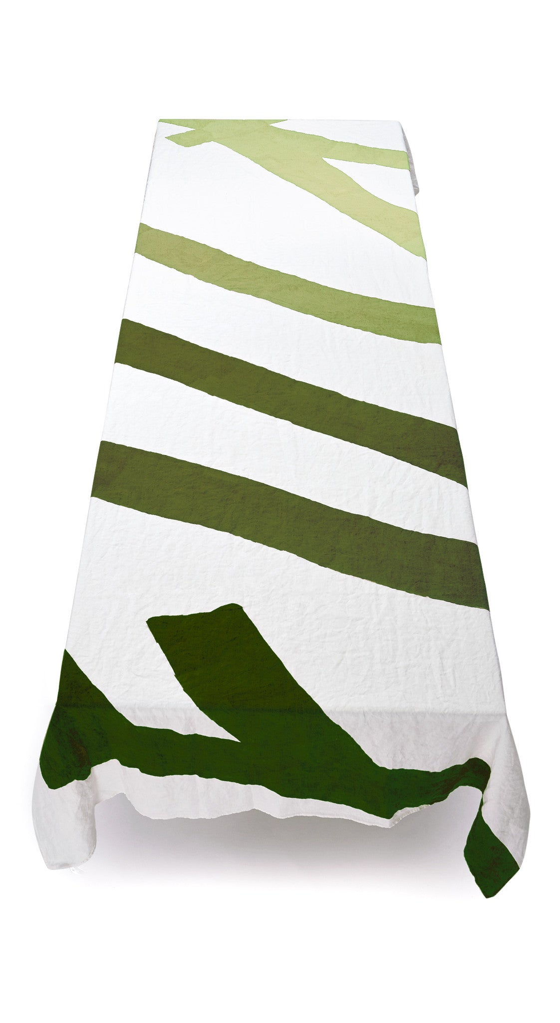 Fuck Linen Tablecloth in Shades of Green