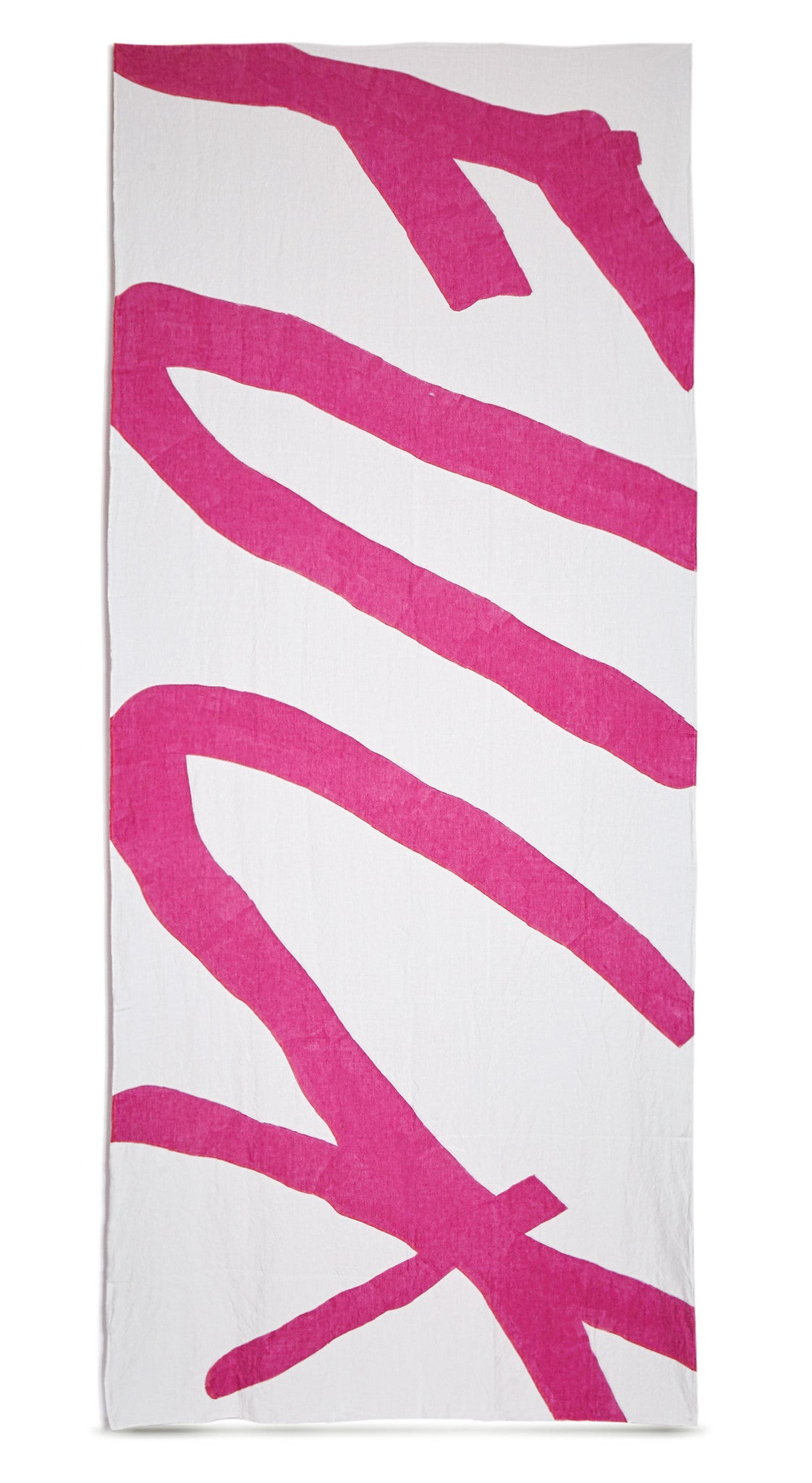 Fuck Word Linen Tablecloth in Fuchsia Pink