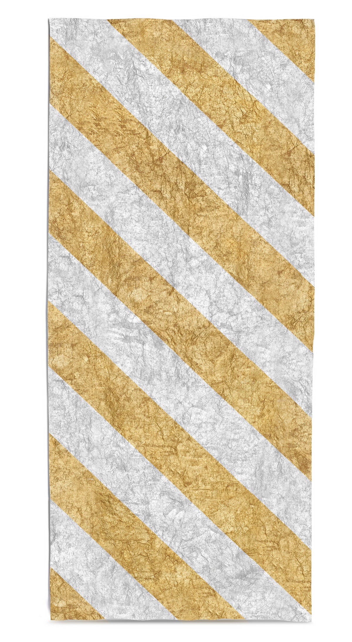 Stripe Linen Tablecloth in Gold & Silver