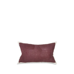Hand Painted Linen Cushion in Grape, 50cm x 30cm