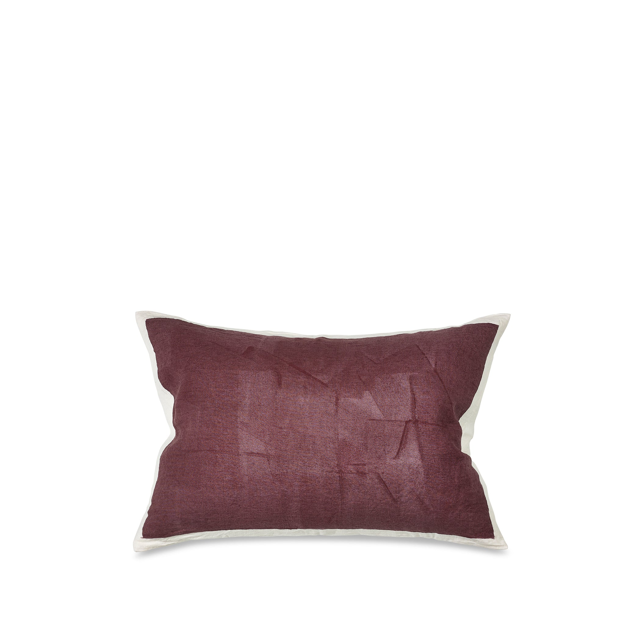 Hand Painted Linen Cushion in Grape, 60cm x 40cm