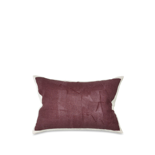 Hand Painted Linen Cushion Cover in Grape, 60cm x 40cm