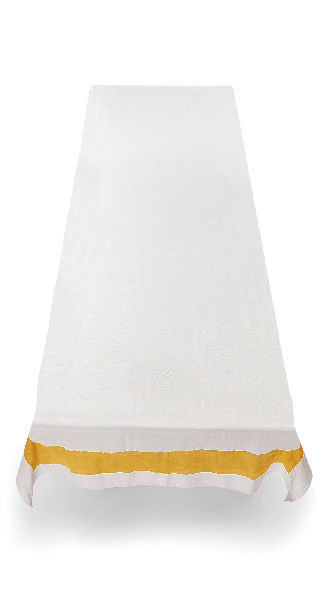 Cornice Linen Tablecloth in Lemon Yellow