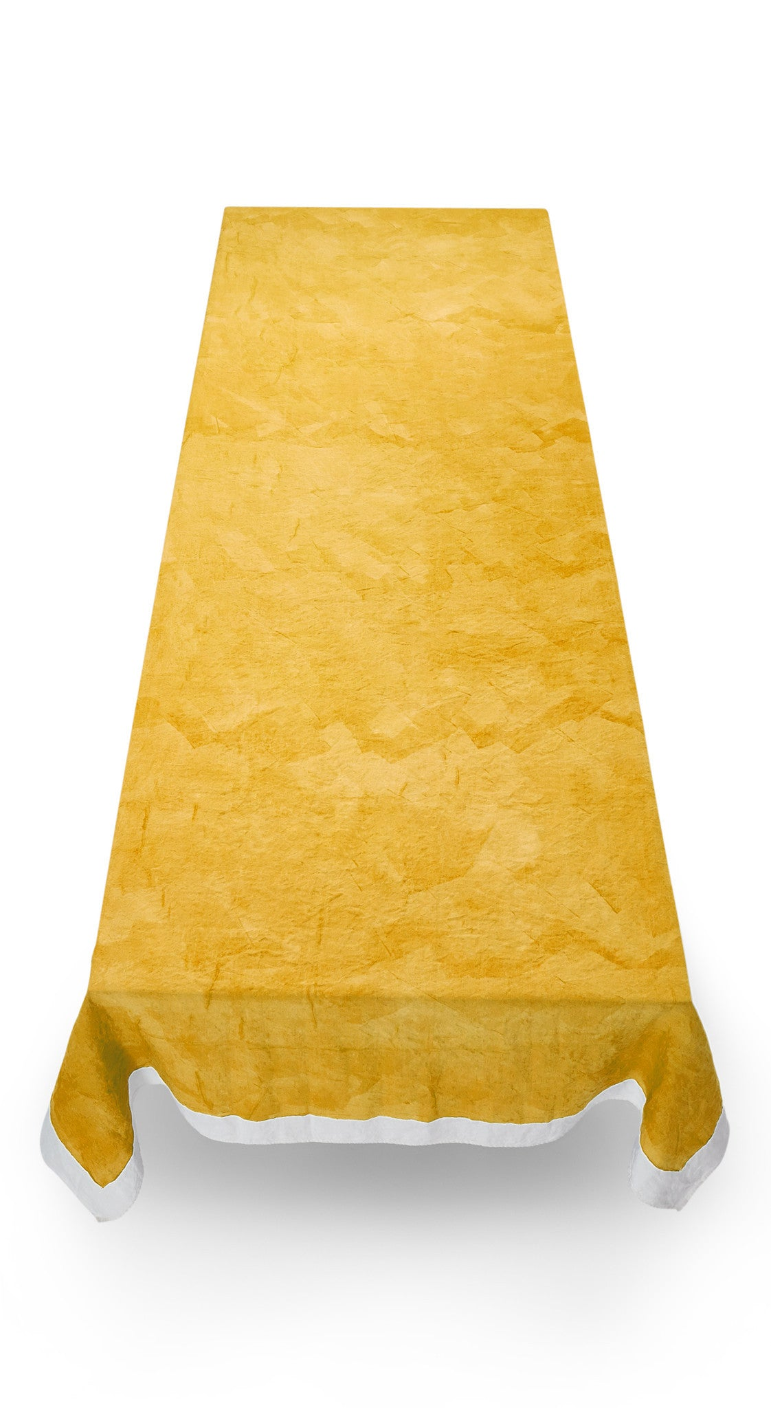 Full Field Linen Tablecloth in Lemon Yellow