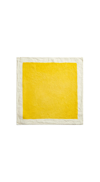 Full Field Linen Napkin in Lemon Yellow