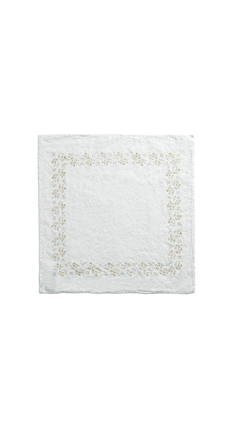 Bernadette's Framed Flower Linen Napkin in Gold