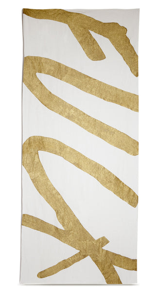Fuck Linen Tablecloth in Gold