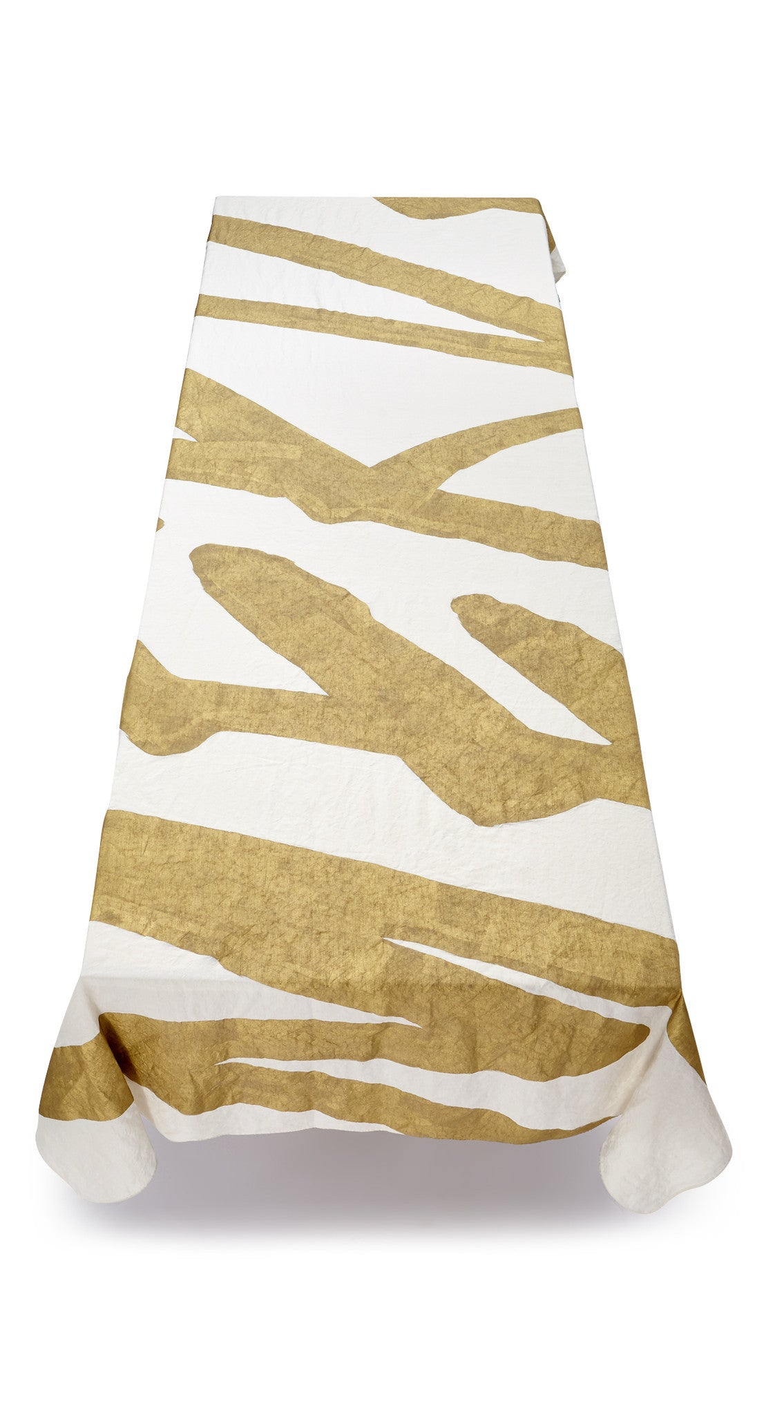 Merde Word Linen Tablecloth in Gold