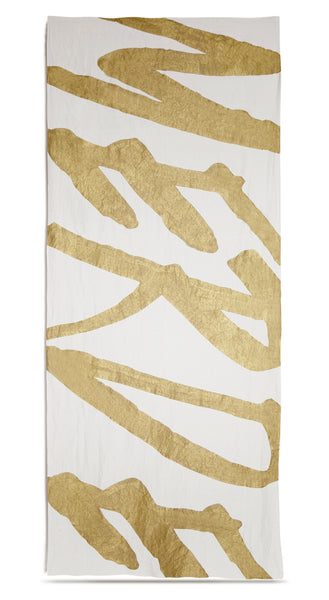 Merde Linen Tablecloth in Gold
