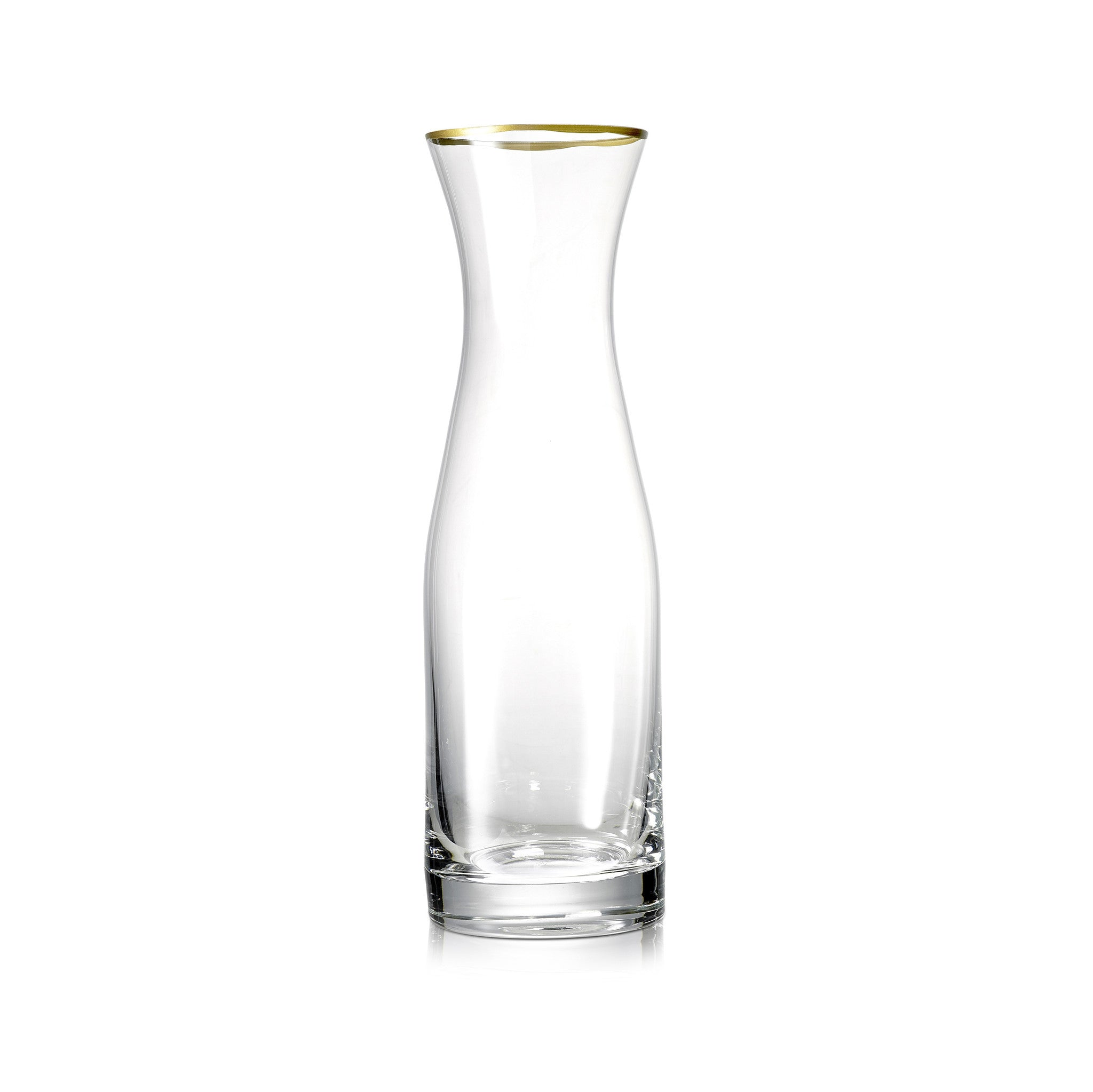 S&B Glass Water Carafe with Gold Rim