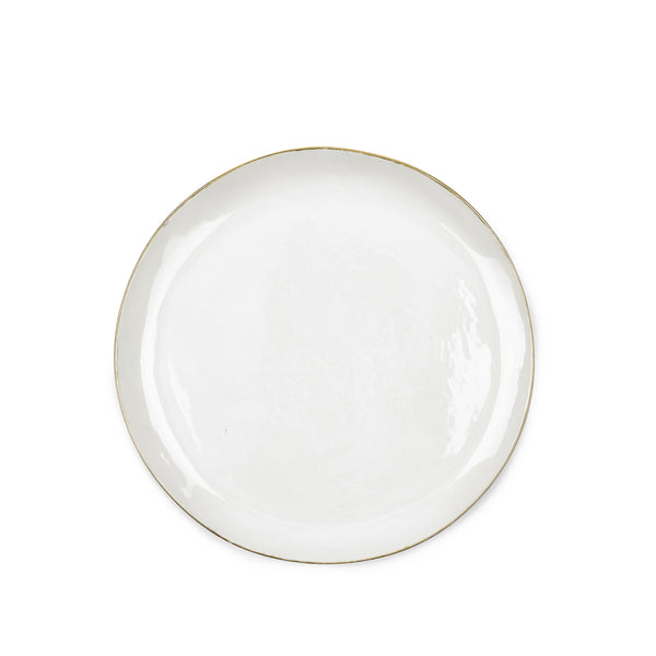S&B Handmade 31cm Porcelain Dinner Plate with Gold Rim