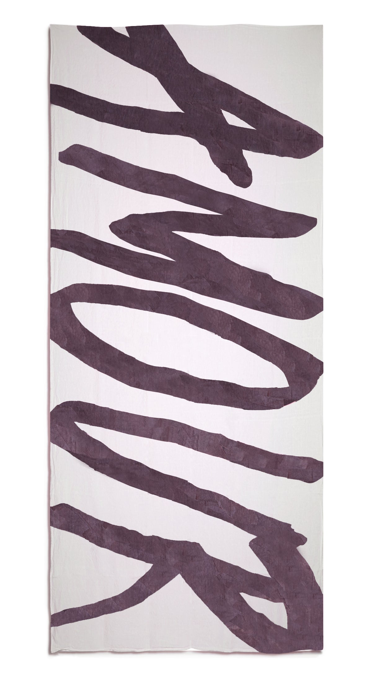 Amour Word Linen Tablecloth in Grape Purple