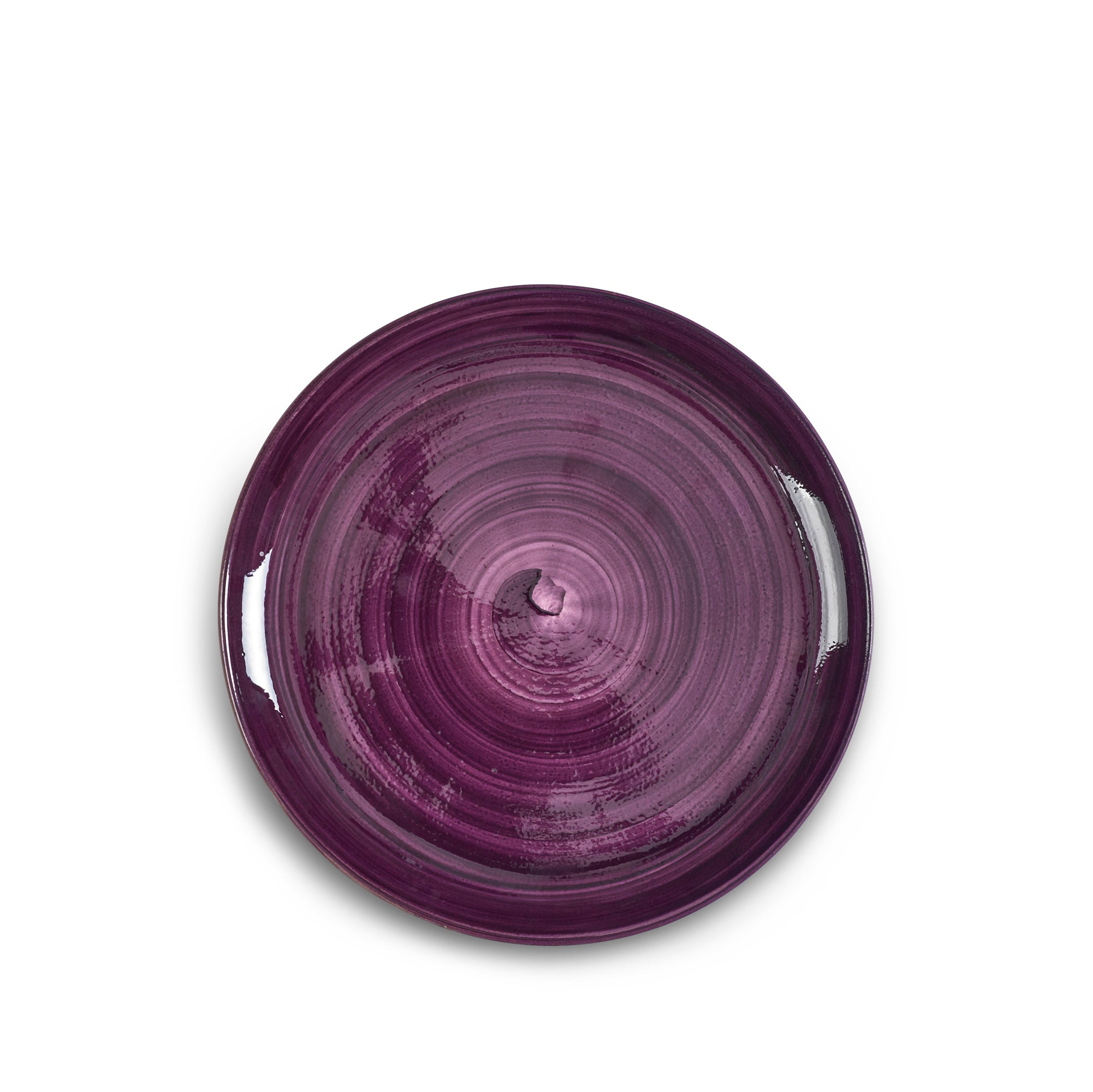 "S&B ""La Couronne"" 26cm Ceramic Dinner Plate in Purple"