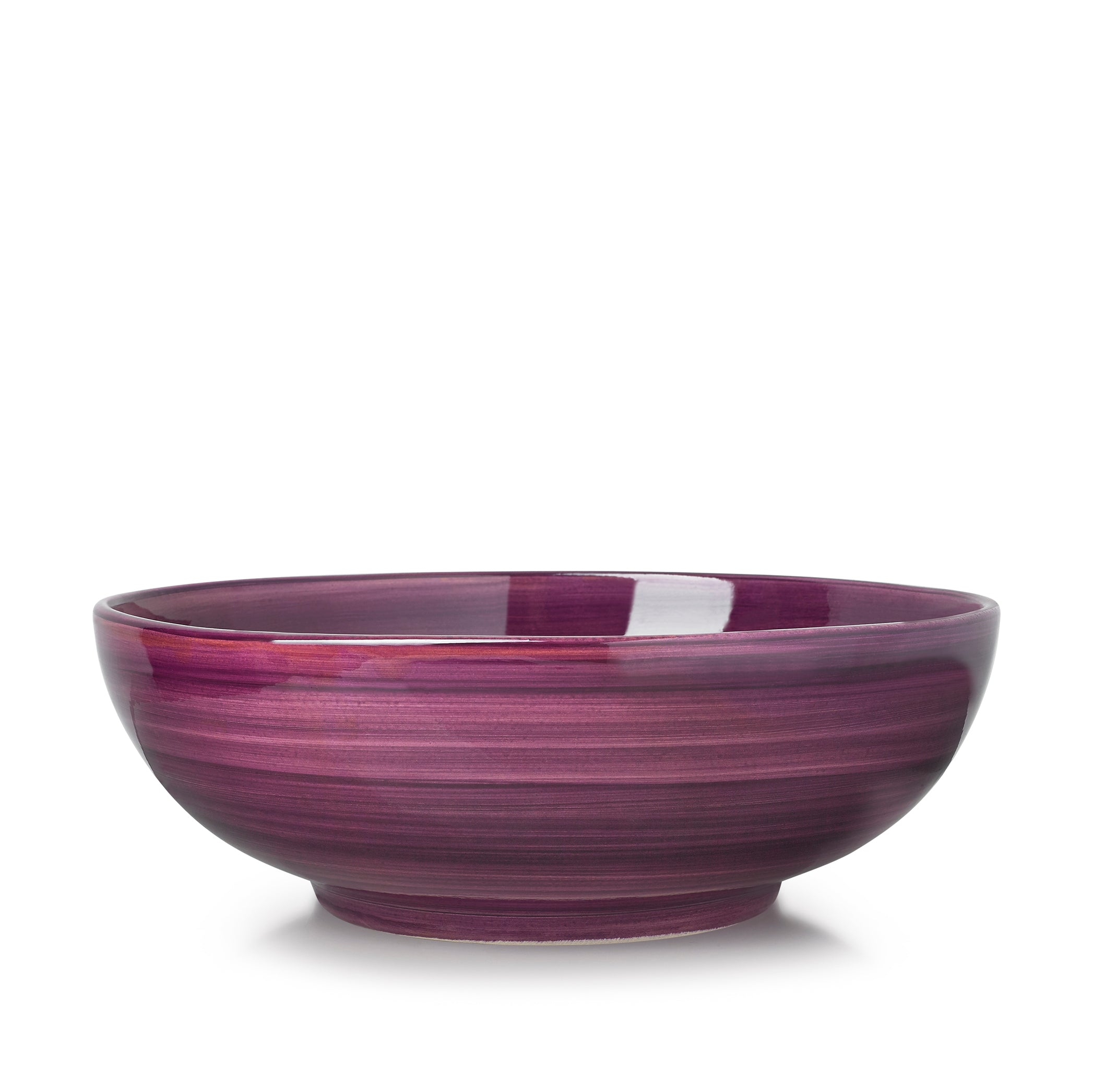 "S&B ""La Couronne"" 30cm Ceramic Large Serving Bowl in Purple"