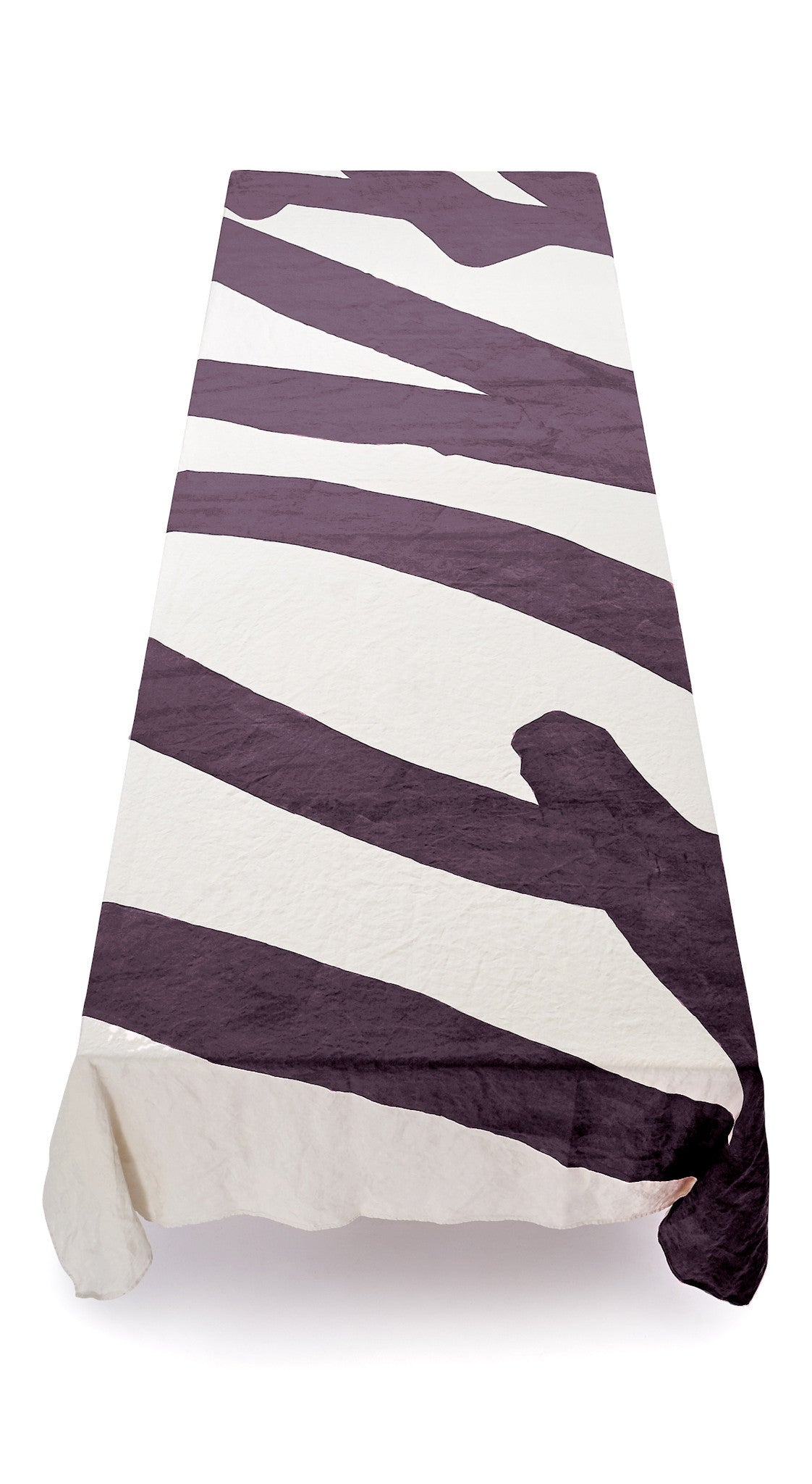 Love Word Linen Tablecloth in Grape Purple