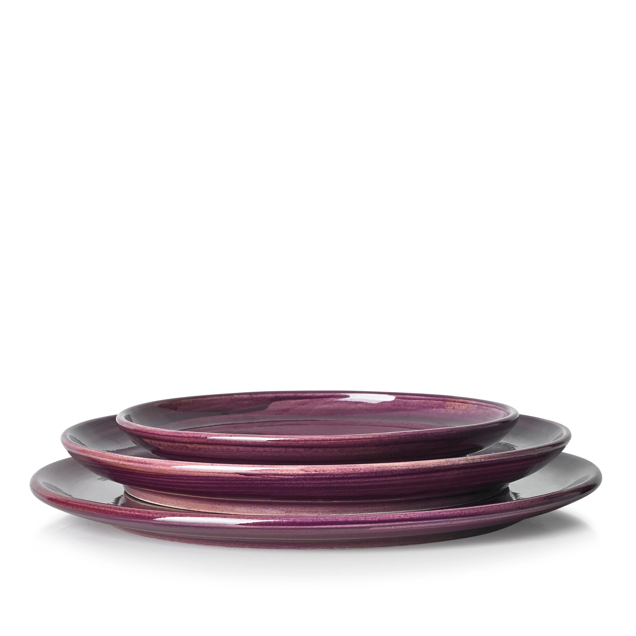 "S&B ""La Couronne"" 29cm Ceramic Tart / Cake Plate in Purple"