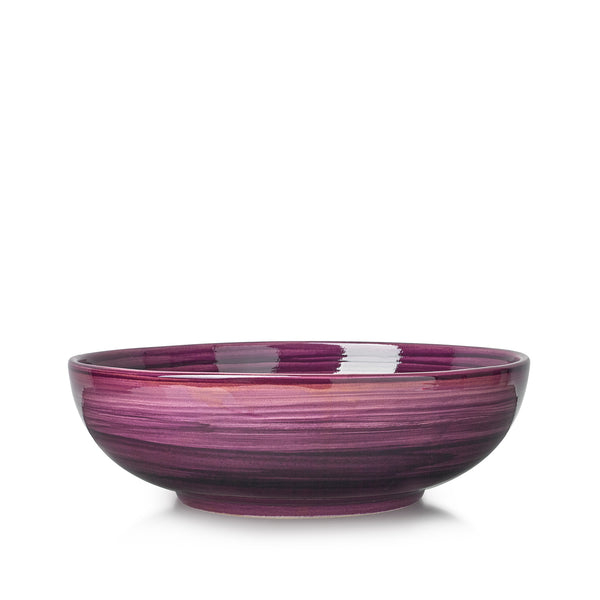 "S&B ""La Couronne"" 25cm Ceramic Serving Bowl in Purple"