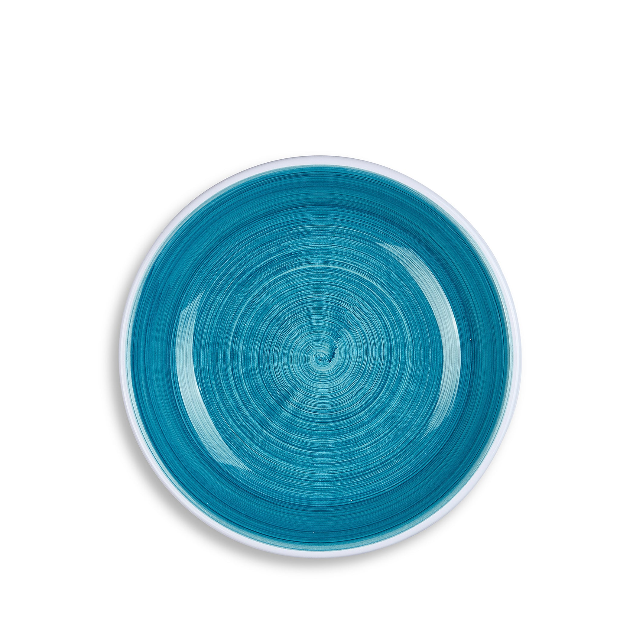 S&B 'Brushed' Ceramic Pasta Bowl in Sea Blue, 22cm