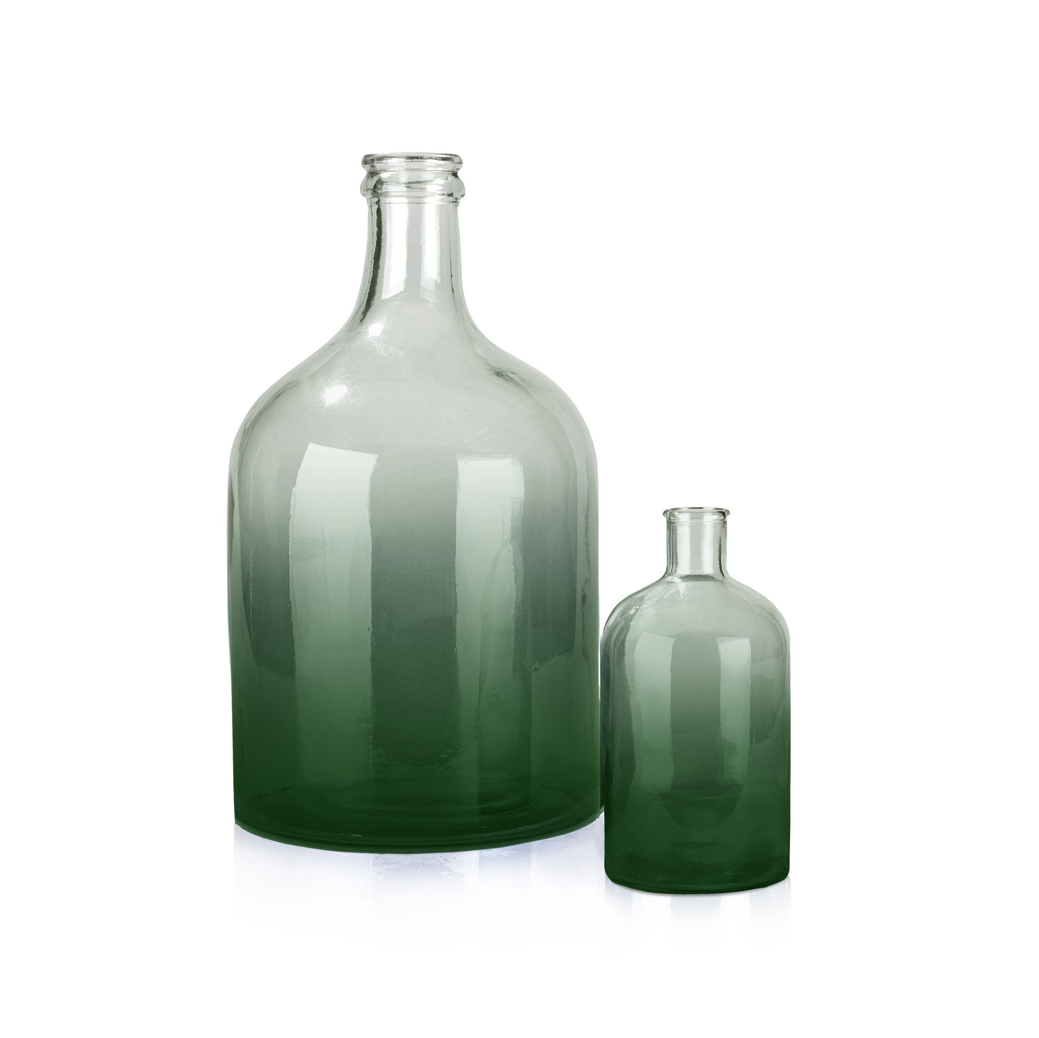 Recycled Small Green Glass Bottle – Summerill & Bishop