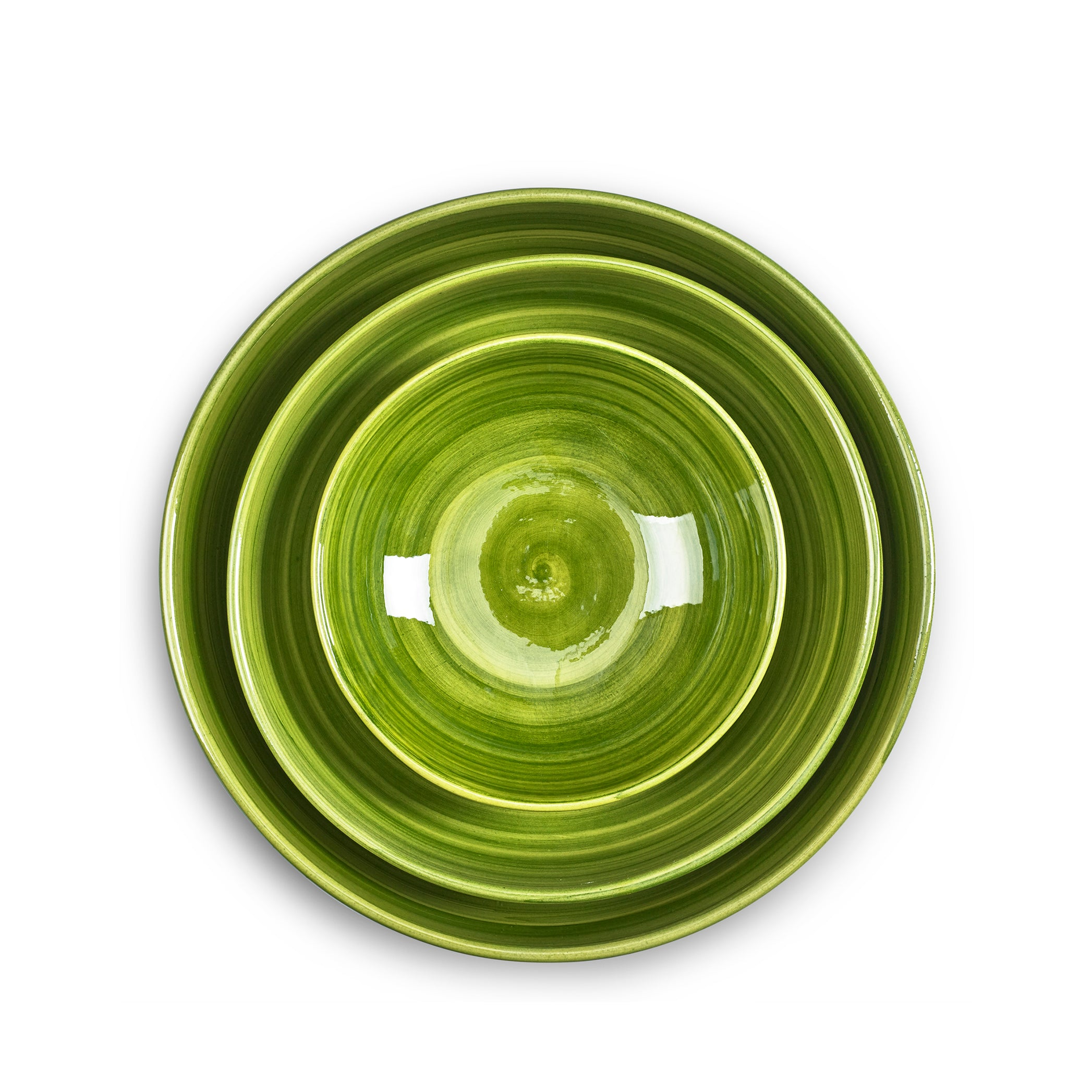 "S&B ""La Couronne"" 18.5cm Ceramic Soup Bowl in Green"