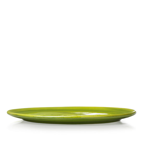 "S&B ""La Couronne"" 29cm Ceramic Tart / Cake Plate in Green"