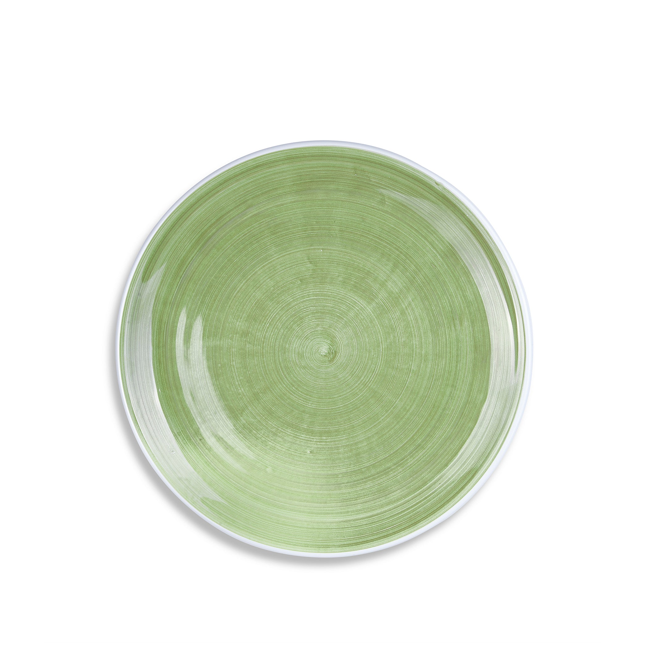 S&B 'Brushed' Ceramic Dinner Plate in Season Green, 28cm