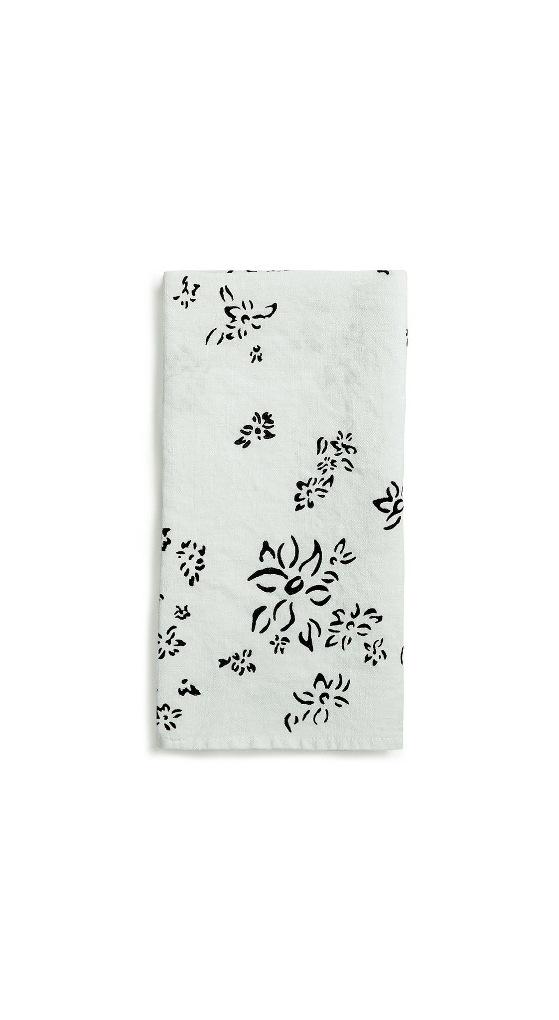 Bernadette's Falling Flower Linen Napkin in Forest Green