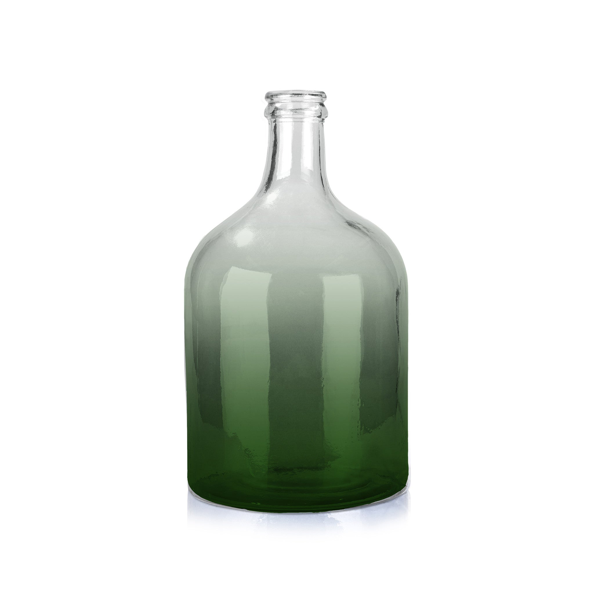 Recycled Large Green Glass Bottle