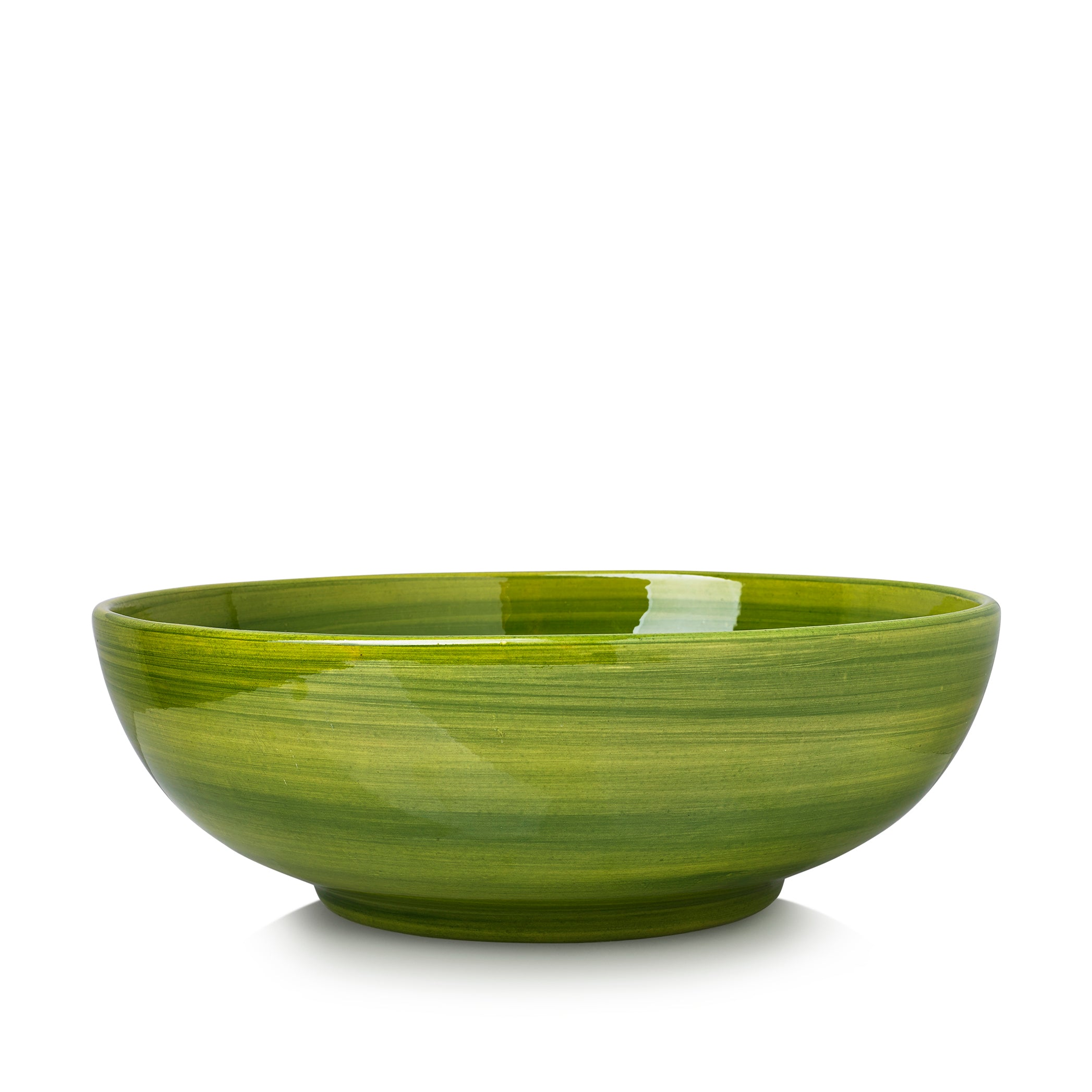 "S&B ""La Couronne"" 30cm Ceramic Large Serving Bowl in Green"