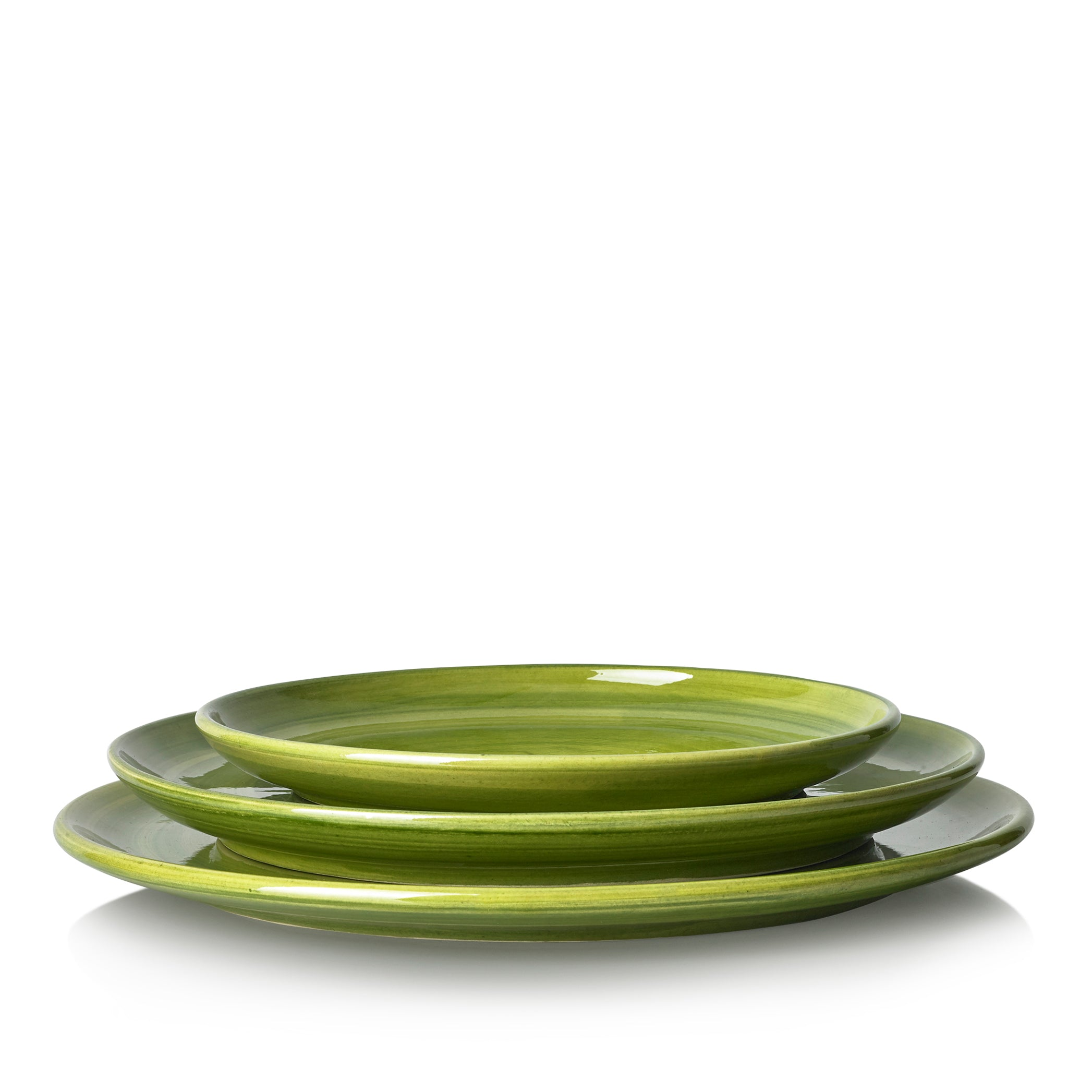 "S&B ""La Couronne"" 26cm Ceramic Dinner Plate in Green"