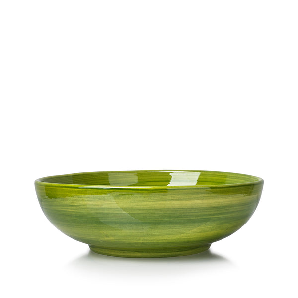 "S&B ""La Couronne"" 25cm Ceramic Serving Bowl in Green"