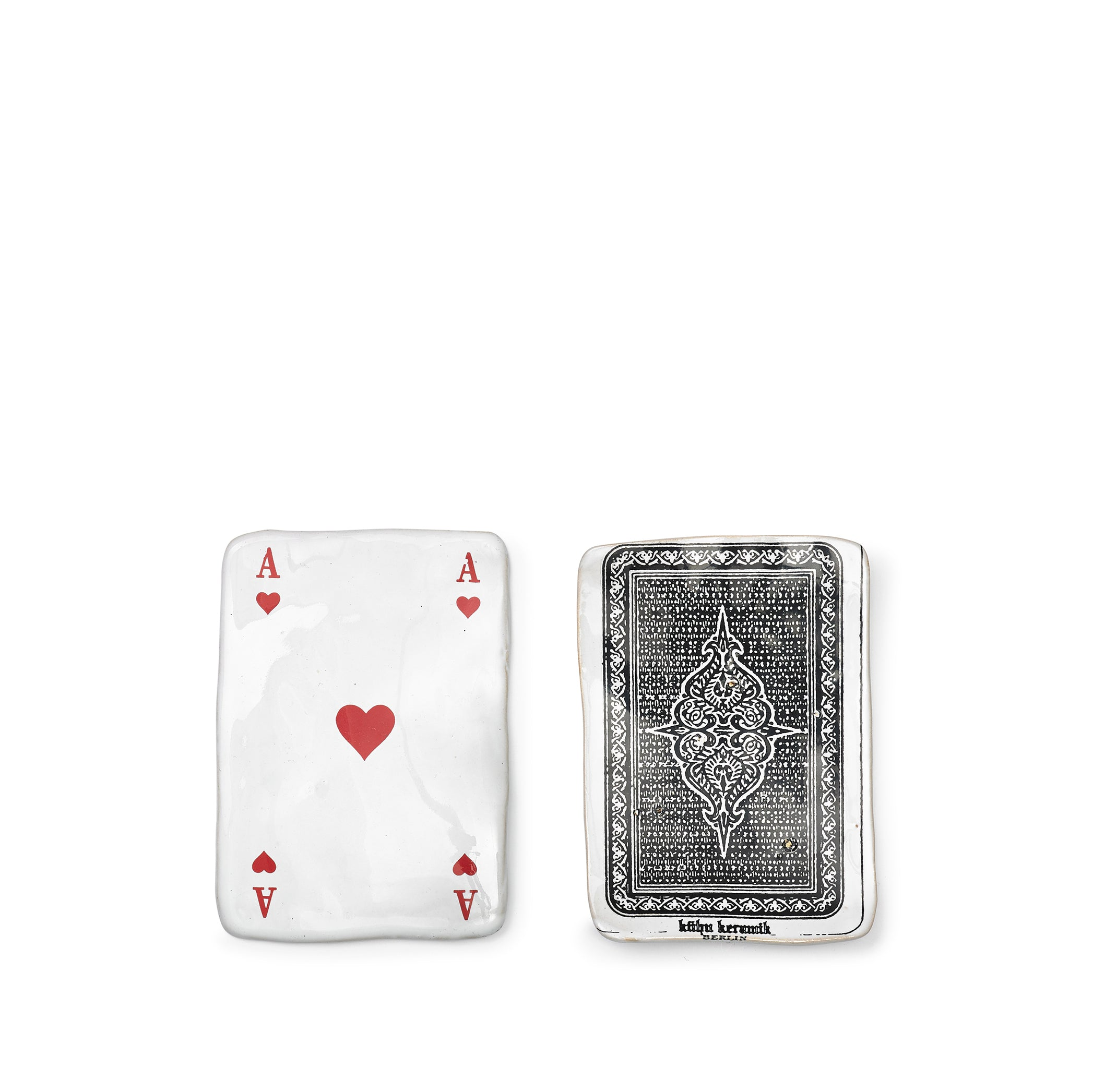 Ceramic Heart Playing Cards, Set of 14