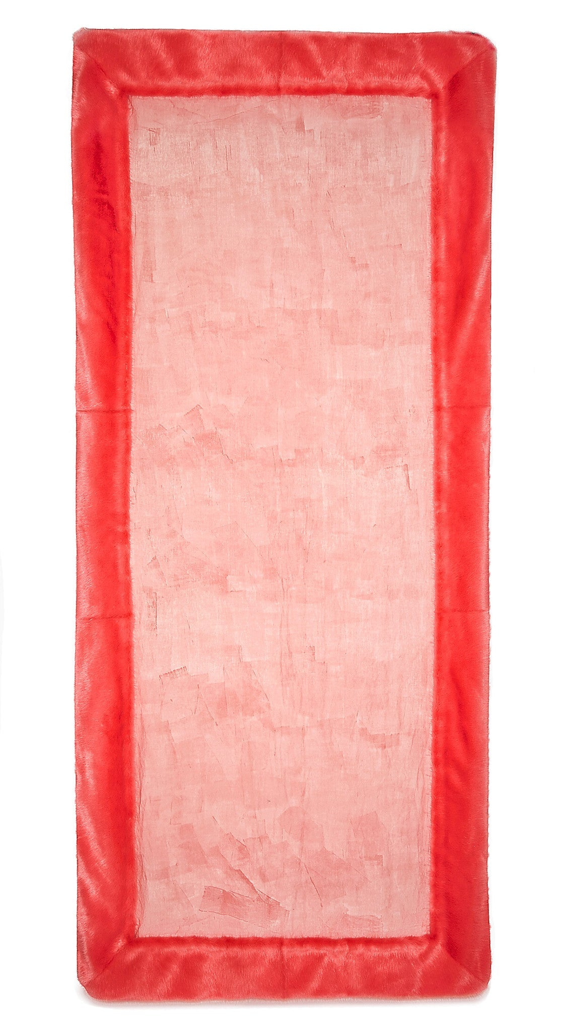 S&B x Shrimps Hand Painted Linen and Faux Fur Tablecloth in Powder Pink