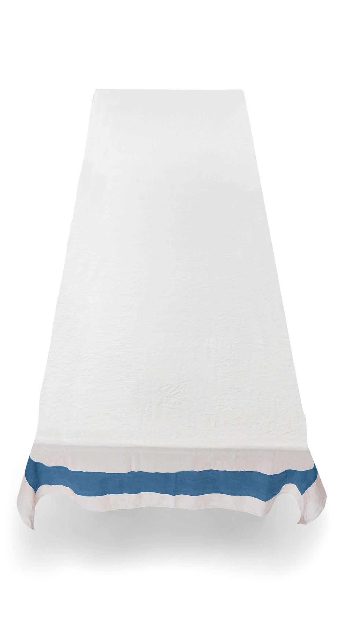 Cornice Linen Tablecloth in Sky Blue