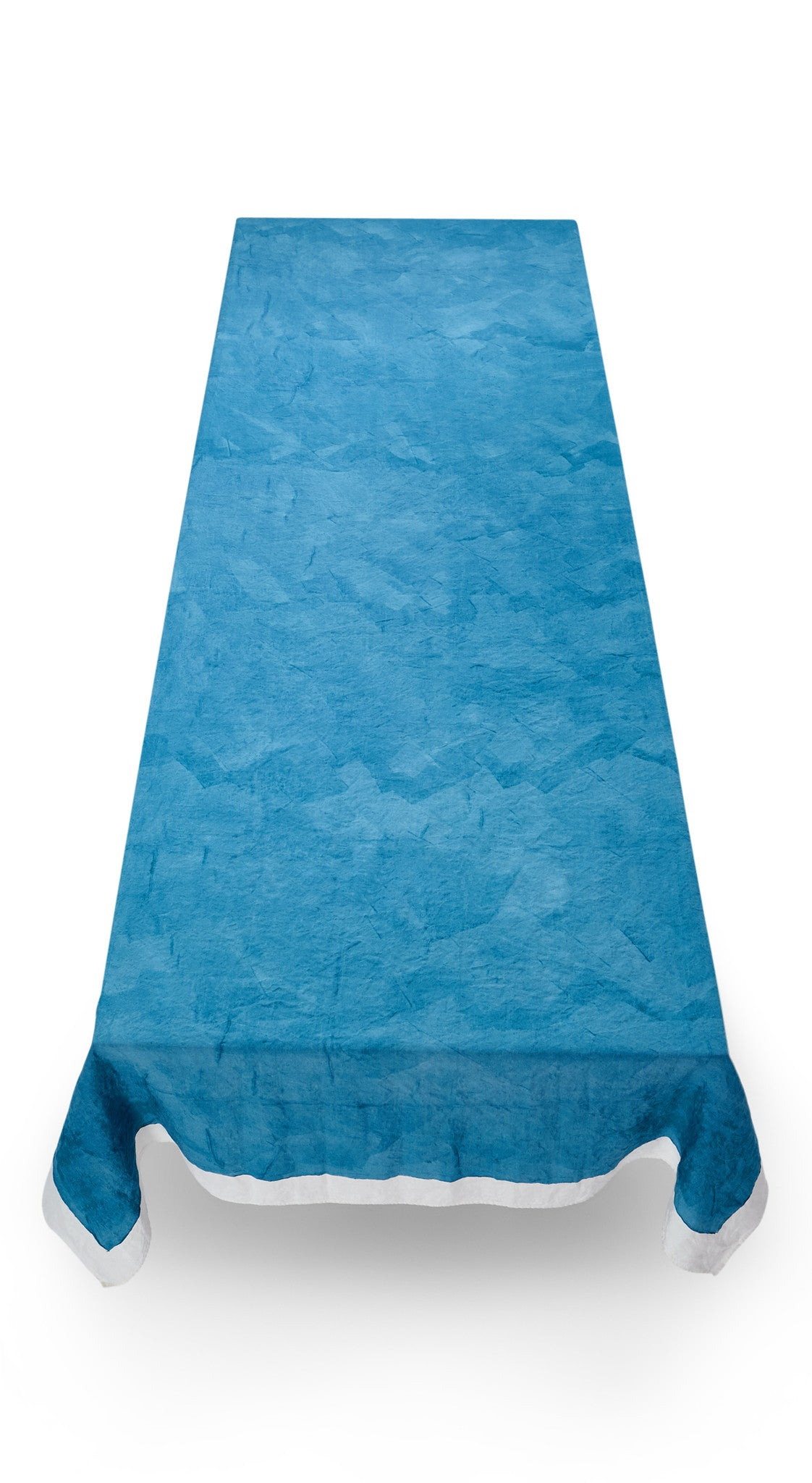 Full Field Linen Tablecloth in Sky Blue