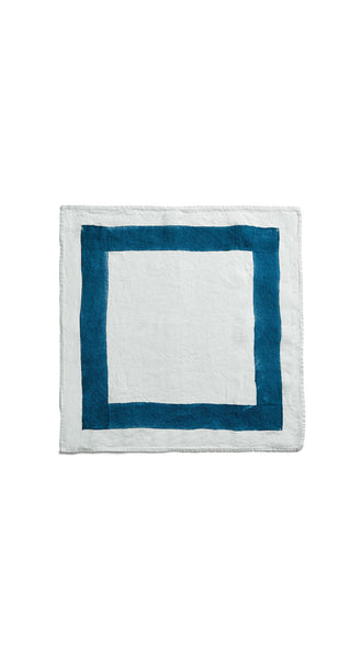 Cornice Linen Napkin in Midnight Blue
