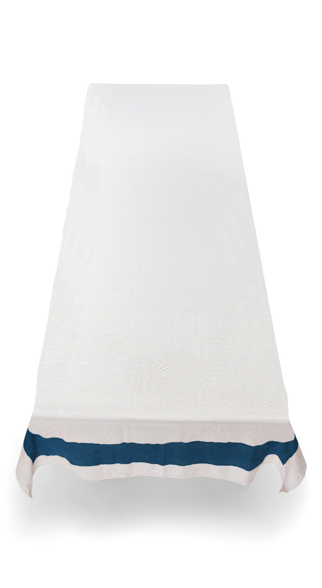 Cornice Linen Tablecloth in Midnight Blue