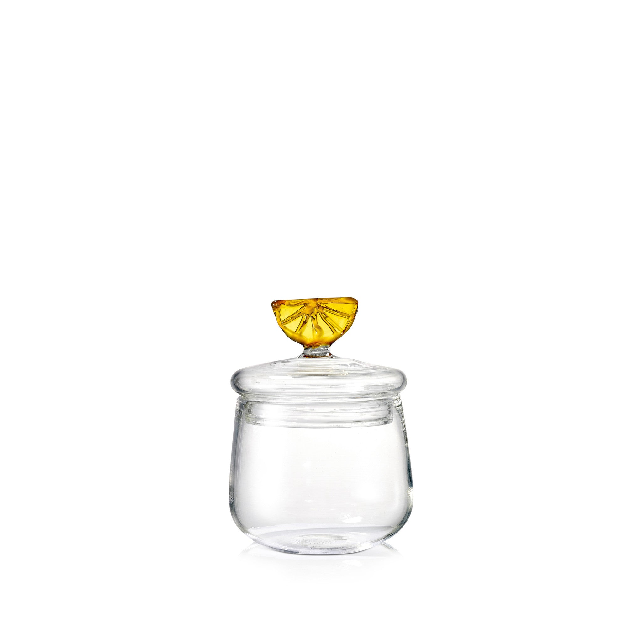 Glass Jam Jar with Orange Lid
