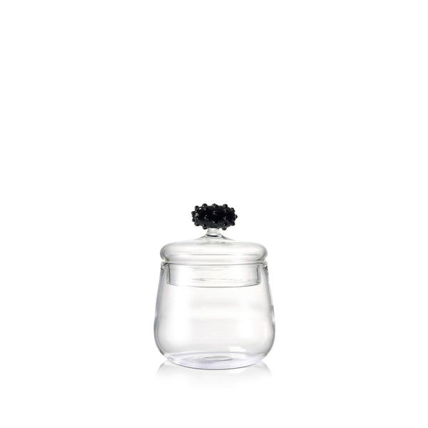 Glass Jam Jar with Black Mulberry Lid