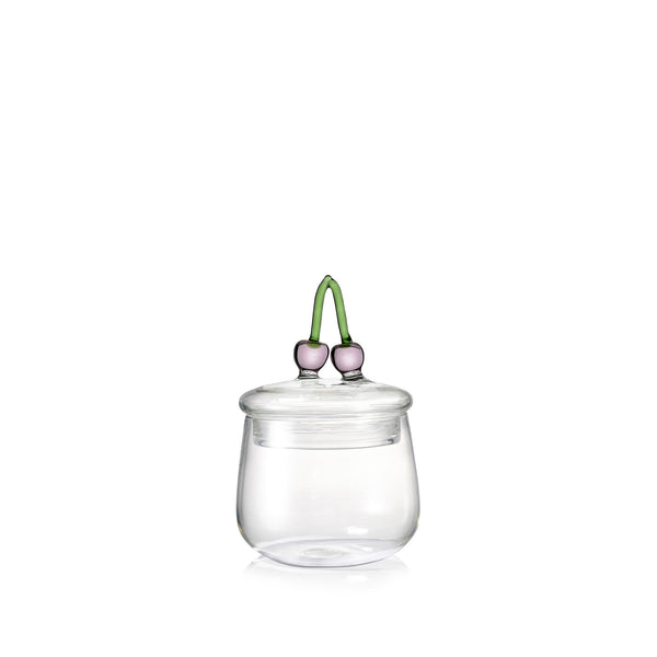 Glass Jam Jar with Cherry Lid
