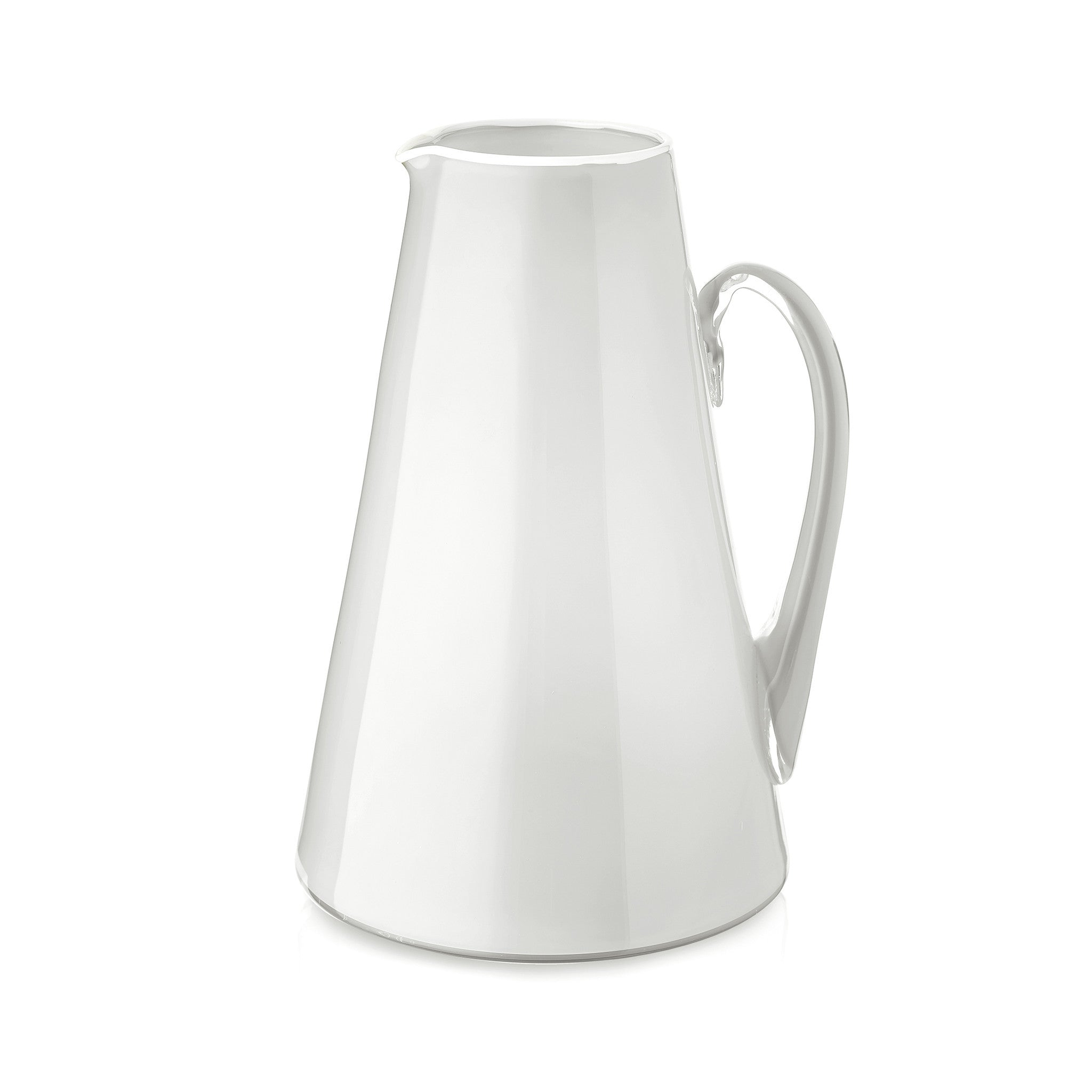 Handblown Glass Bumba Jug in Light Grey