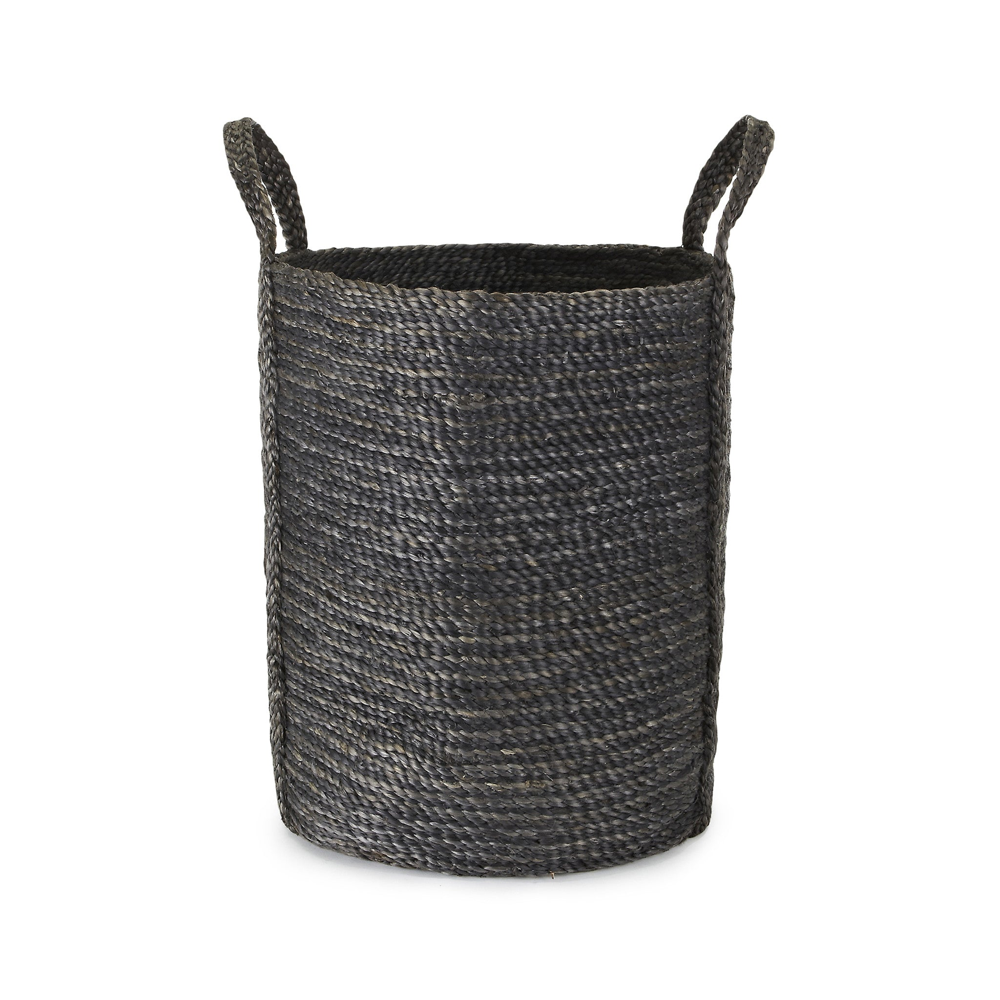 Tall Grey Jute Basket
