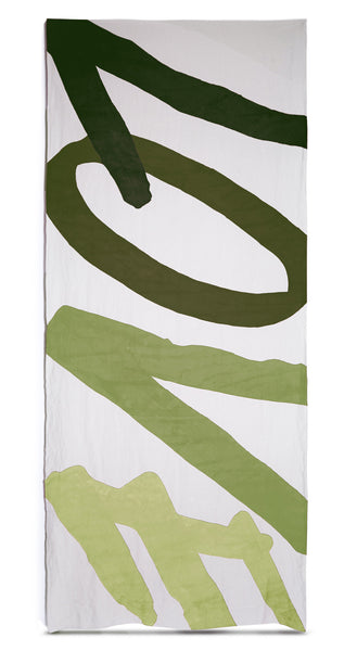 Love Linen Tablecloth in Shades of Green
