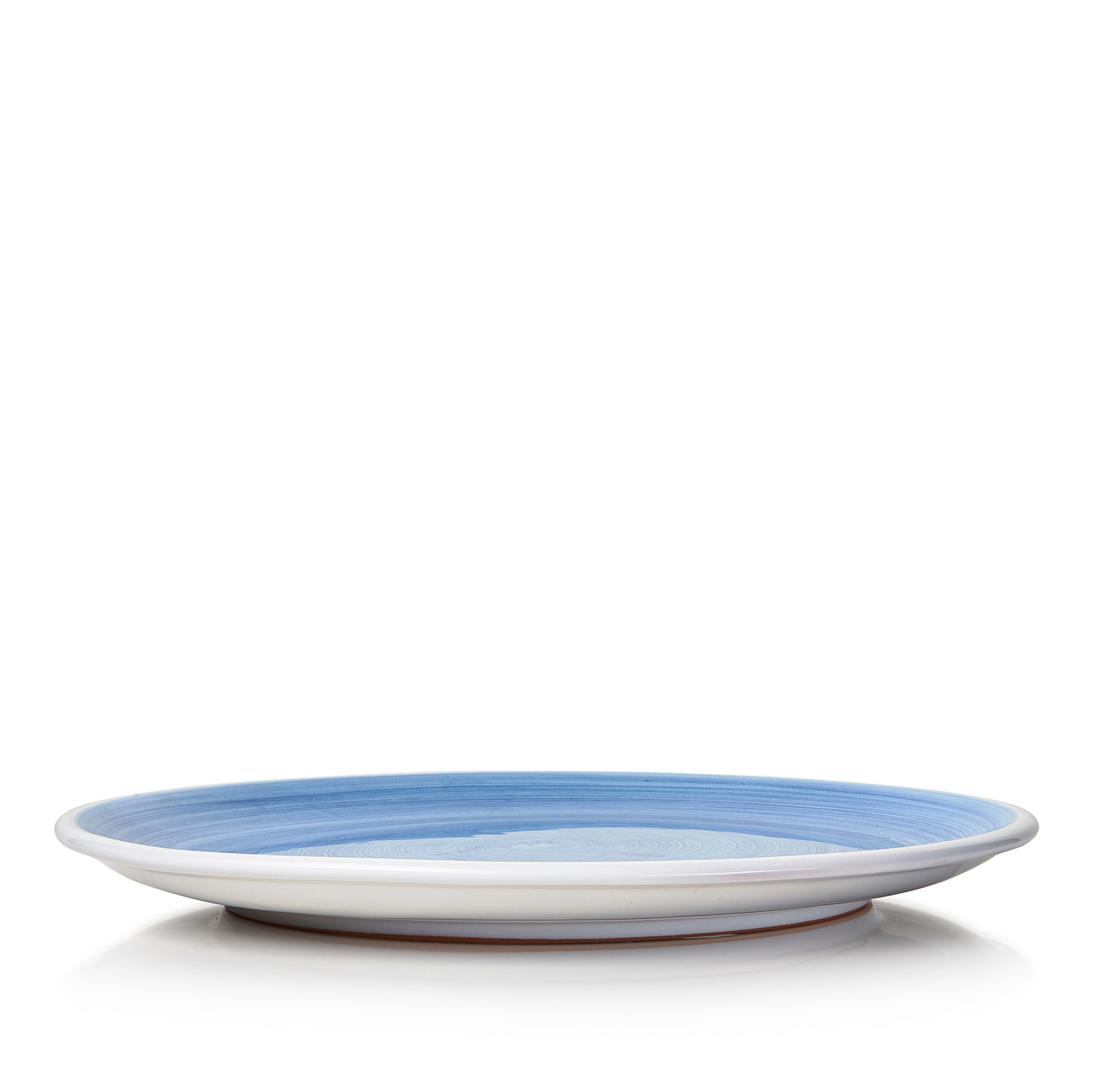 S&B 'Brushed' Ceramic Dinner Plate in Light Blue, 28cm